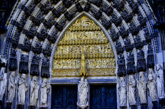 Eine Vision des Köln-Kathedralen-Tors Stockbilder