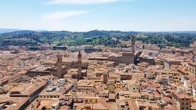 Eine Vogelperspektive von Florenz, Italien lizenzfreie stockfotografie