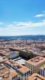 Eine Vogelperspektive von Florenz, Italien lizenzfreies stockfoto