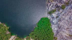 Eine Vogelperspektive von Grand Canyon Chonburi Thailand, Markstein Lizenzfreies Stockfoto