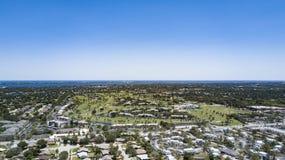 Eine Vogelperspektive von Melbourne in Richtung zum Atlantik Lizenzfreies Stockbild