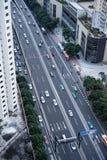 Eine Vogelschau der Straße stockfotos
