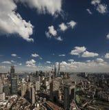 Eine Vogelschau von Shanghai Lizenzfreies Stockbild