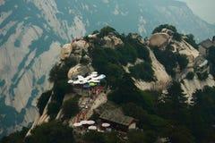 Eine von Spitzen auf Huangshan-Berg Stockbild