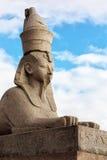 Eine von zwei ägyptischen Sphinxen in St Petersburg Stockfotografie