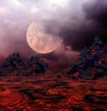 Eine vulkanische Eruption Stockfotos