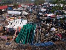 Eine Wäscherei in Mumbai, Indien Stockfotos