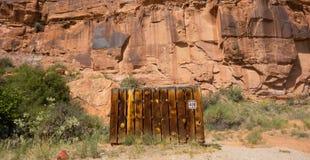 Eine Wölbungstoilette in der Wüste Stockfotos