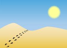 Eine Wüste lizenzfreie abbildung