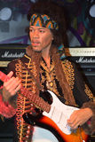 Eine Wachsfigur von Jimi Hendrix Stockbild