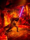 Eine Wachsstatue von Anakin Skywalker von Star Wars-Episode VI in Museum Madame Tussaud in London Stockbild