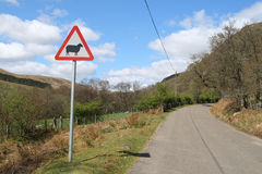 Eine Waliser-Landstraße. Lizenzfreies Stockfoto