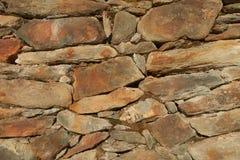 Eine Wand aufgebaut mit Steinen stockfoto