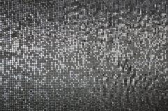 Eine Wand der funkelnden silbernen Paillette Lizenzfreies Stockbild