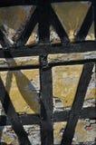 Eine Wand eines alten dänischen Hauses Stockfotografie