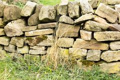 Eine Wand errichtet, um den Test der Zeit zu stehen stockfoto