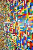 Eine Wand voll von Lego Pieces Lizenzfreies Stockbild