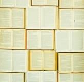 Eine Wand von Büchern Stockfoto