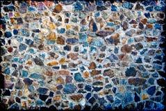 Eine Wand von den Granitsteinen Stockfoto