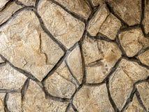 Eine Wand von Flusssteinen Stockfotos