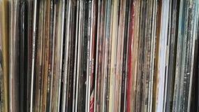 Eine Wand von Vinylen Stockbilder