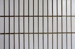 Eine weiße Backsteinmauer Stockfotografie