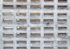 Eine weiße Backsteinmauer Stockfotos