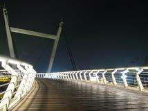 Eine weiße Brücke Stockbilder