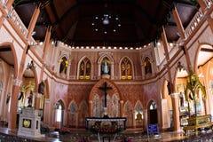 Eine weiße Kirche in Thailand Lizenzfreie Stockfotos