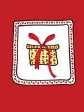 Eine Weihnachtskarte Stockfotografie