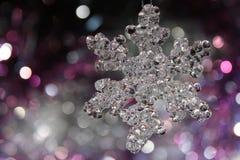 Eine Weihnachtsschneeflocke Stockfoto