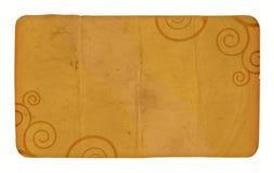 Eine Weinlese-Karte mit Spiralen Stockbild