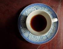 Eine Weinleseschale schwarzer Kaffee Stockbild