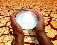 Eine Welt Thirsting stockfotografie