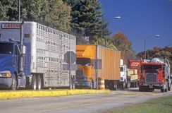 Eine wiegende Station des LKWs in Ashville, North Carolina lizenzfreies stockfoto