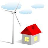 Eine Windturbine für das Haus Lizenzfreies Stockfoto