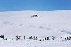 Eine Woche im Schnee Stockfoto