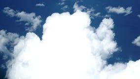 Eine Wolke vom Flugzeug stock video