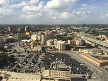 Eine Wolkenkratzeransicht von San Antonio Texas Stockbild