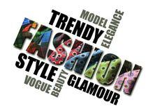 Eine Wortwolke der Mode Stockbilder