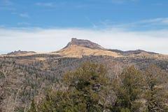 Eine Wyoming-Bergspitze lizenzfreie stockfotografie