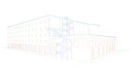 Eine Zeichnung eines Gebäudes Lizenzfreies Stockfoto