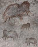 Eine Zeichnung von Mammuts in einem Kloster lizenzfreie stockfotos