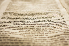 Eine Zeile Torah Stockbilder