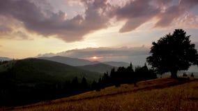 Eine Zeitspanne eines Sonnenuntergangs stock video