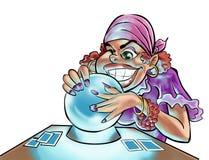 Eine Zigeunerfrau Lizenzfreie Stockfotos