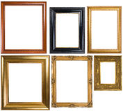 Eine Zusammenstellung der klassischen Bilderrahmen Lizenzfreies Stockfoto
