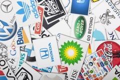 Eine Zusammenstellung von bedeutenden Einzelhandelsketten US lizenzfreies stockbild