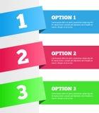 Eine zwei drei - Vektorfortschrittsschritte Lizenzfreie Stockbilder