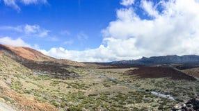 An einem Fuß eines Vulkans von Teyde zu Teneriffa stockfotos